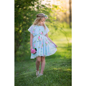 Floral Chiffon Dress - Adorable Essentials, LLC
