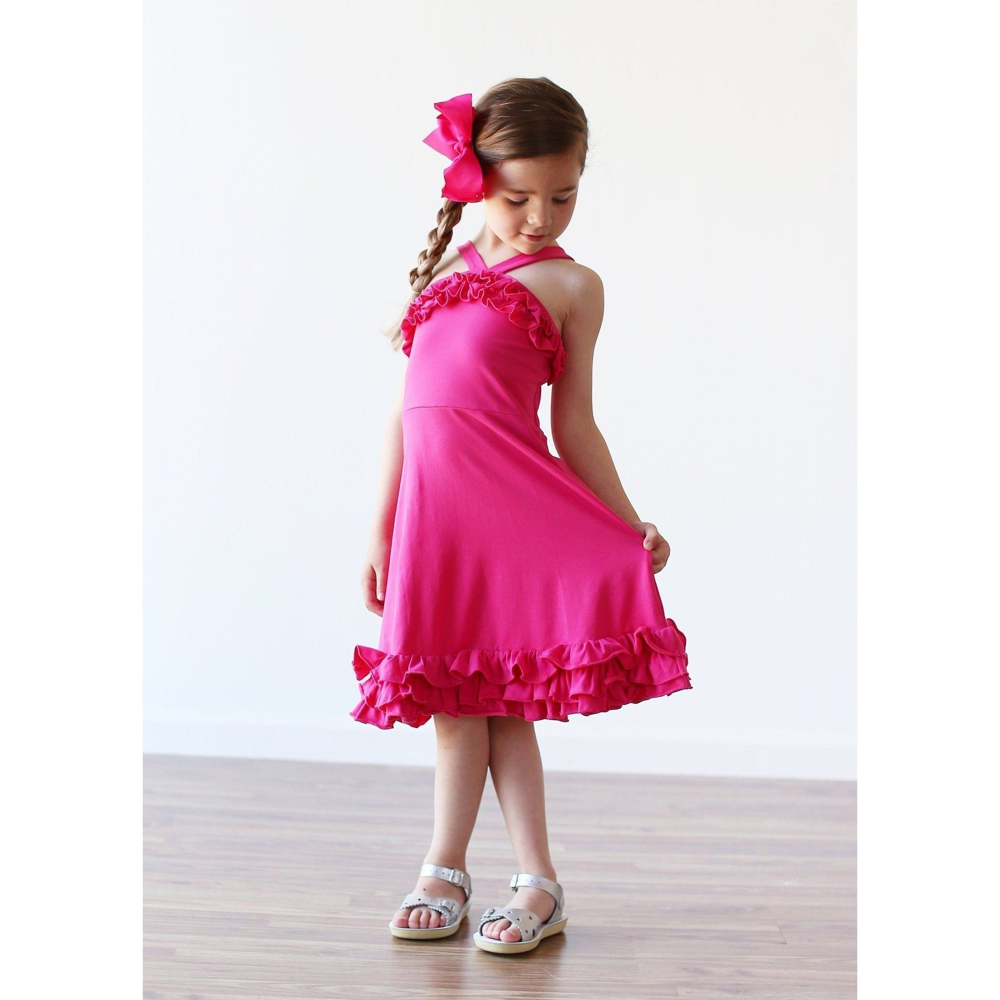Adorable Essentials, Willa Dress - bright pink,Dresses,Adorable Essentials, LLC