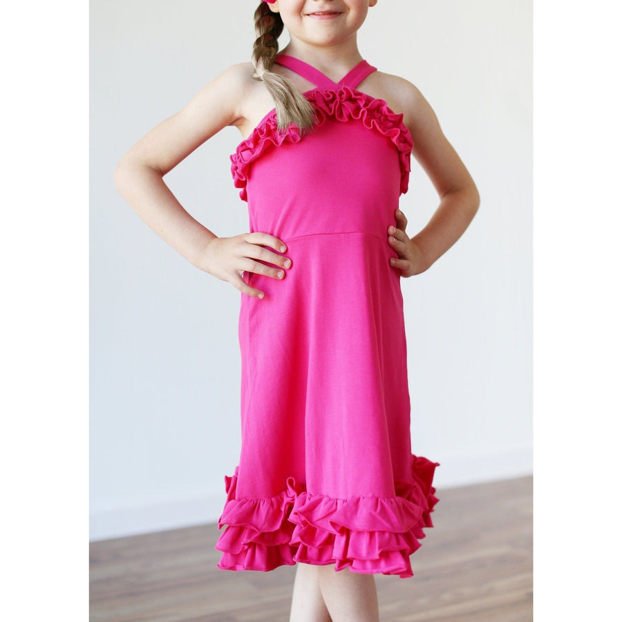 Adorable Essentials, Willa Dress - Lt Pink,Dresses,Adorable Essentials, LLC