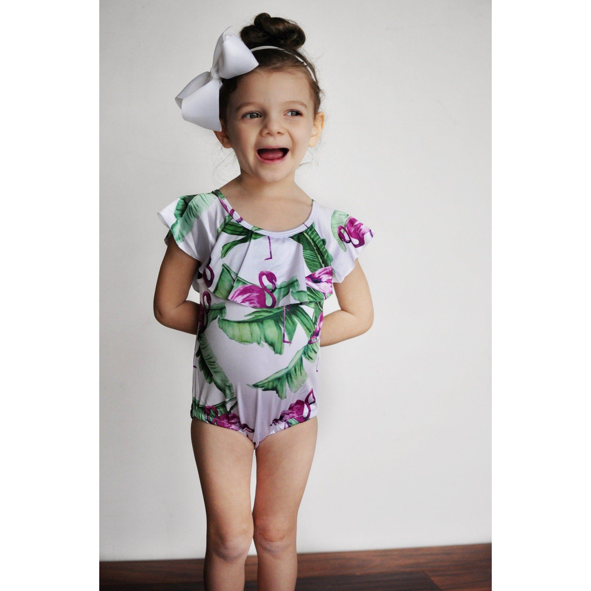 Adorable Essentials, Flamingo Girl Swimsuit,Swimsuit,Adorable Essentials, LLC