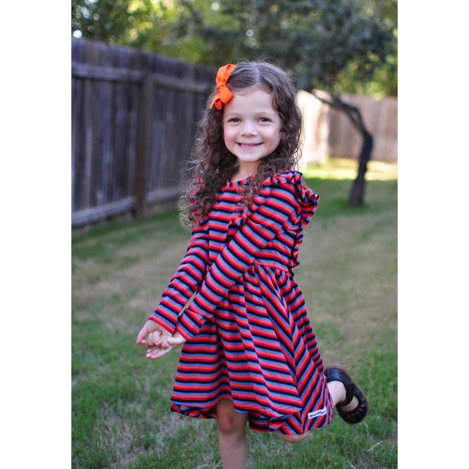 Rainbow Long Sleeve Hi Low Dress - Adorable Essentials