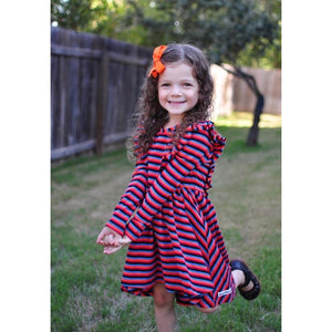 Rainbow Long Sleeve Hi Low Dress - Adorable Essentials, LLC