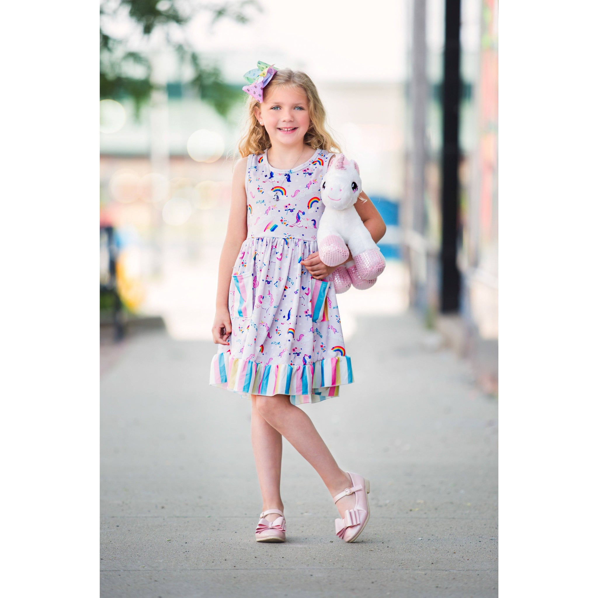 Adorable Essentials, Unicorns and Rainbows Dress,Dresses,Adorable Essentials, LLC
