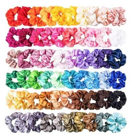 VSCO GIRL - SATIN OR VELVET SCRUNCHIES SET OF 52  OR 60 - Adorable Essentials