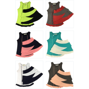 Tank and Tiered Bike Skort Sets - Adorable Essentials, LLC