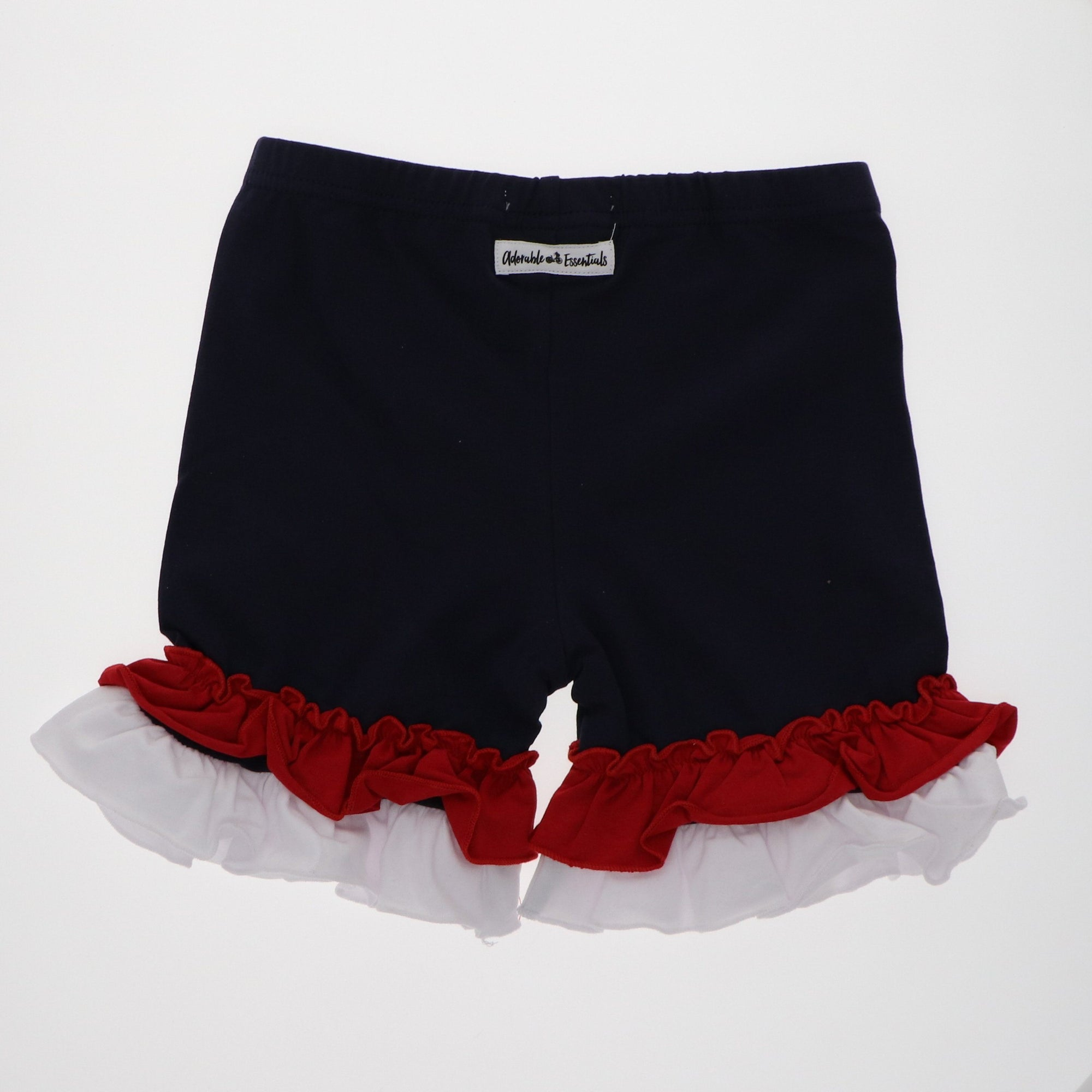 Patriotic Shorties - Navy, Red & White - Adorable Essentials