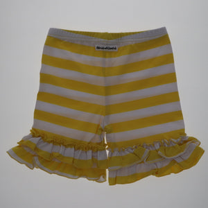 Yellow Striped Ruffle Shorties - Adorable Essentials
