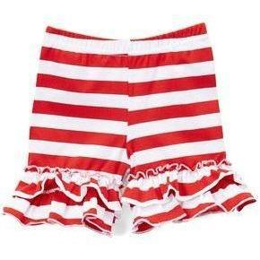 Red Striped Ruffle Shorties - Adorable Essentials, LLC