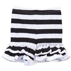 Navy Striped Ruffle Shorties - Adorable Essentials, LLC