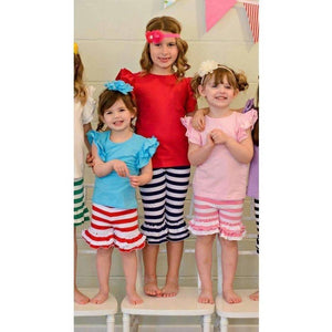 Black Striped Ruffle Shorties - Adorable Essentials