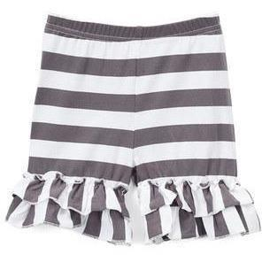 Gray & White Striped Shorts - Adorable Essentials
