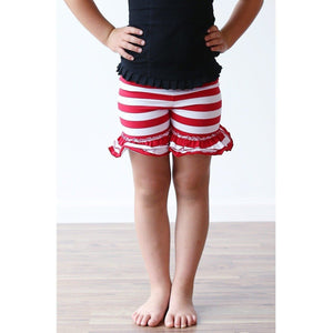 Navy Striped Ruffle Shorties - Adorable Essentials
