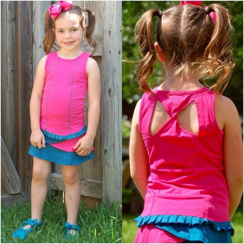 Adorable Essentials, AE Sport Bike Tank and Tiered Bike Skirt Sets,Skorts,Adorable Essentials,Adorable Essentials, LLC