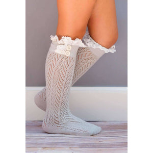 BUTTON BOOT Knee SOCKS - CHILDREN Various Colors - Adorable Essentials, LLC
