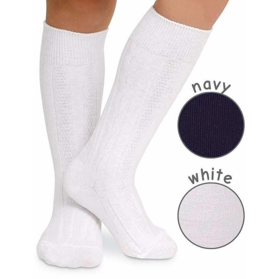 Classic Cable Knee High Socks - Adorable Essentials