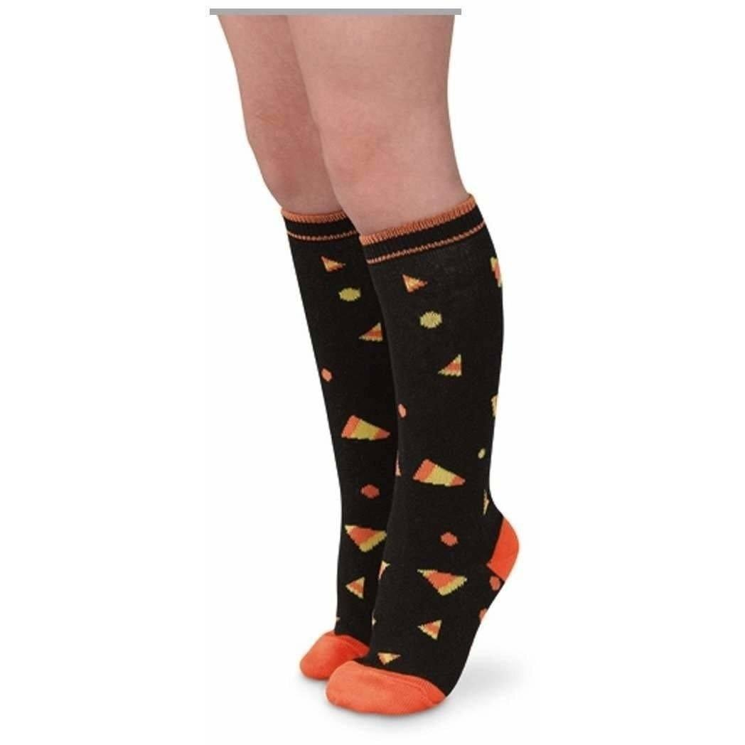 Halloween Candy Corn Knee High Socks - Adorable Essentials