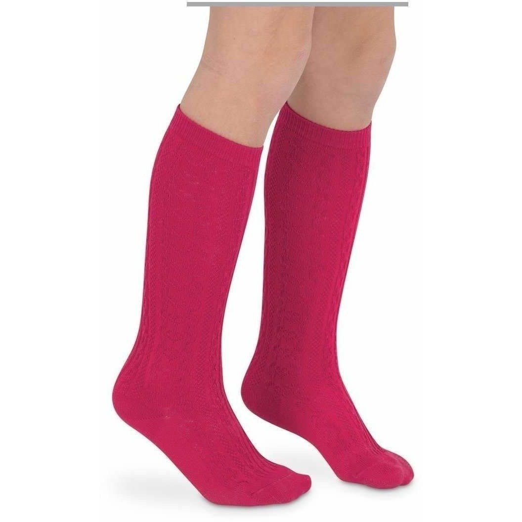 Adorable Essentials, Hot Pink Knee High Socks - Large,socks & tights,Adorable Essentials, LLC
