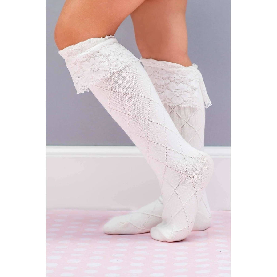 Adorable Essentials, Lace Knee Socks,socks & tights,Adorable Essentials, LLC