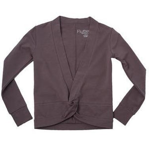 Girls Crossover Shrug - Dark Gray - Adorable Essentials, LLC