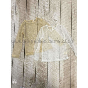 Dainty Lace Simple Shirts--In Stock! - Adorable Essentials, LLC