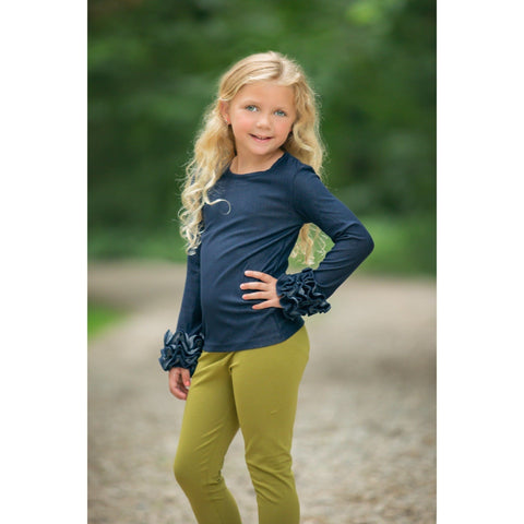 Adorable Essentials, Denim Ruffle Cuff Shirts,Tops,Adorable Essentials,Adorable Essentials, LLC