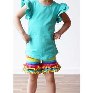 Girls Ruffled Tank - Adorable Essentials, LLC
