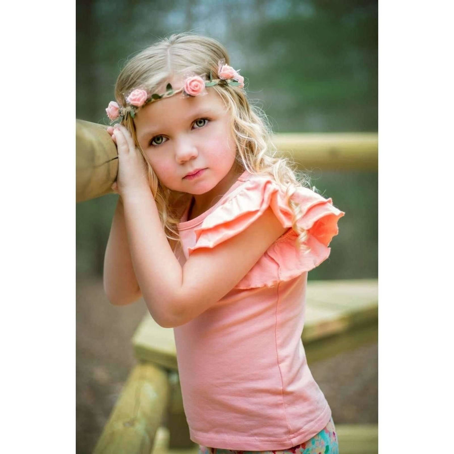 Adorable Essentials, Girls Ruffled Tank,Tops,Adorable Essentials, LLC