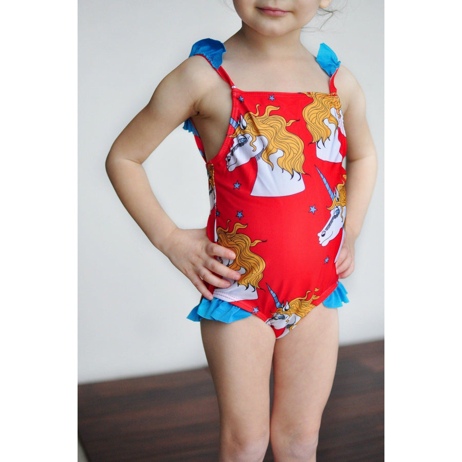 Adorable Essentials, Unicorn Girl Swimsuit,Swimsuit,Adorable Essentials, LLC