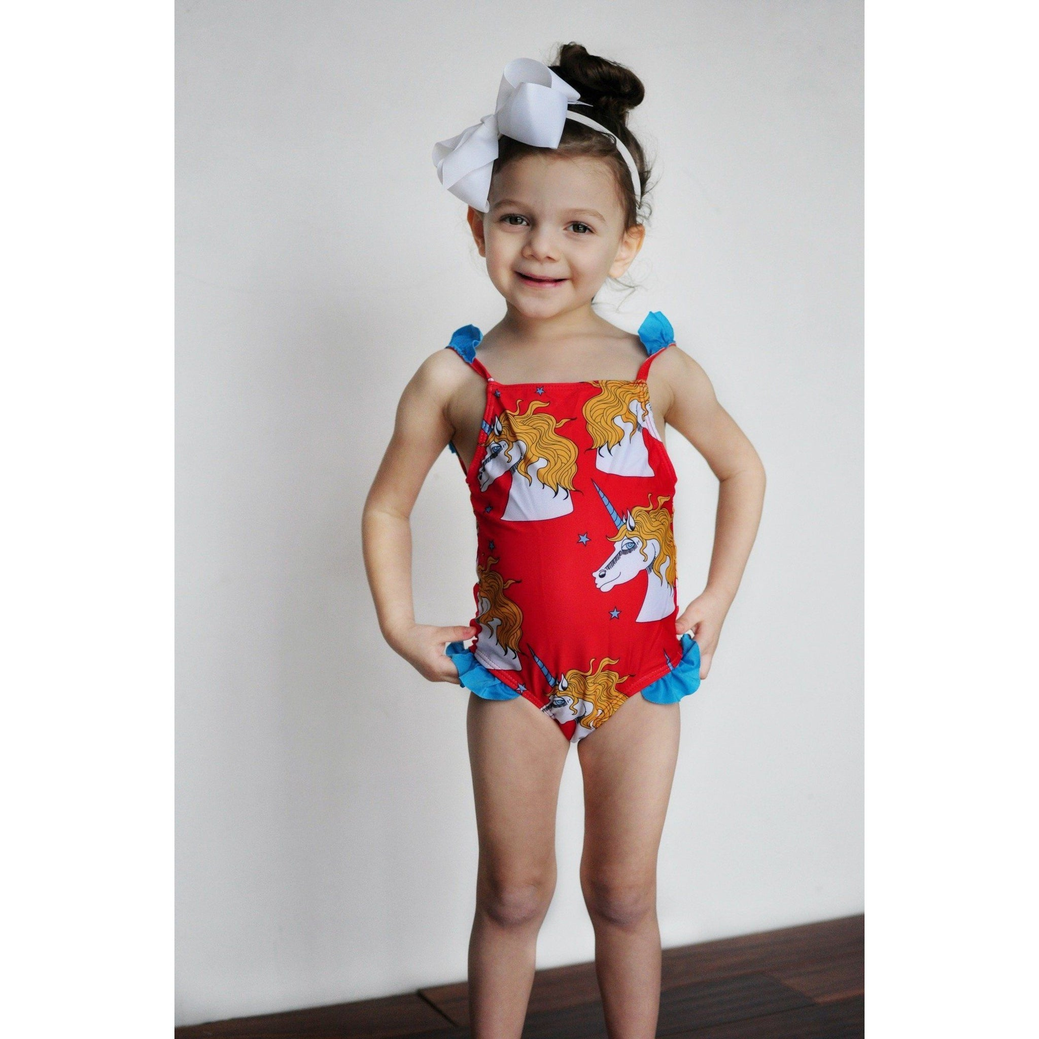 Unicorn Girl Swimsuit - Adorable Essentials