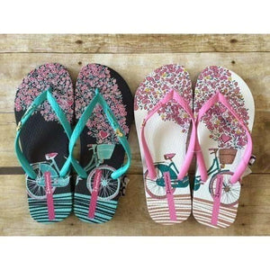 Women's Bicycle Flip Flops - Adorable Essentials