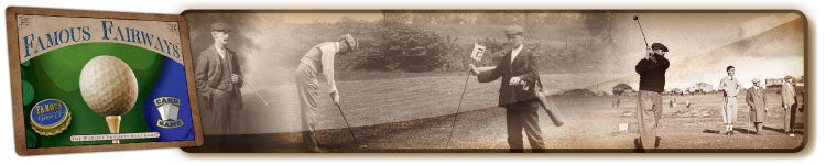 Best vintage two player golf card game, Famous Fairways by Famous Games Co.
