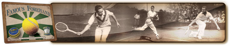 Best vintage two player tennis card game, Famous Forehand by Famous Games Co.