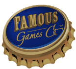 Famous Games Co. and their bottlecap logo