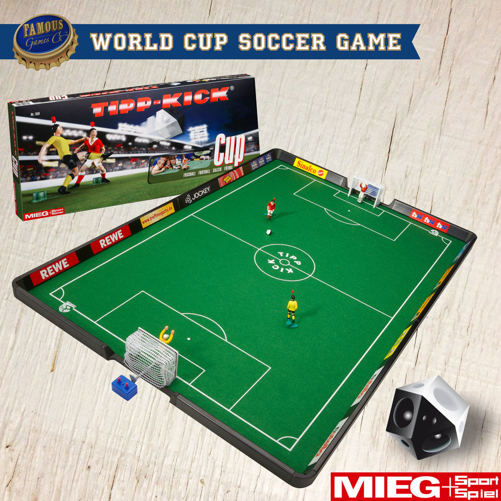 German World Cup Soccer Game: Tipp-Kick Cup by Mieg Sport Spiel - Game In Play