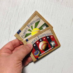 Easy card games - The Beginner Collection from Famous Games Co. - Baseball and Tennis (photo: games in hand)