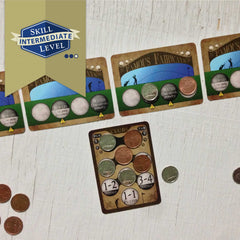 Intermediate-level two player golf card game, Famous Fairways (photo: game in play)