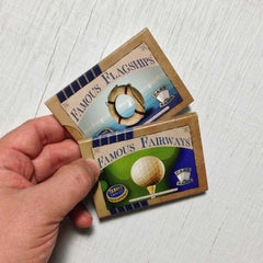 Mid-level card games - The Intermediate Collection from Famous Games Co. - Golf and Yacht Racing (photo: games in hand)