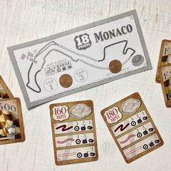 Two player car racing card game, Famous 500 (photo: game in play)