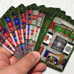 Two player football card game, Famous First Downs (photo: card fan)
