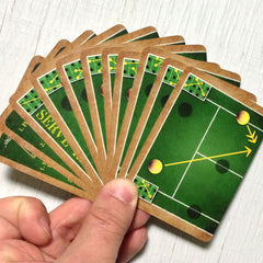 Two player tennis card game, Famous Forehand (photo: card fan)