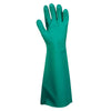 "Premium Green Nitrile, Unlined, 22 MIL, Pebble Grip, 18"" Length 12Pack"
