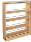 Rev-A-Shelf 432-BF-6C 6-Inch Base Cabinet Filler Pullout Kitchen Wooden Spice Rack Holder Shelves for Storage Organization