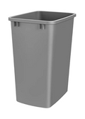 Rev-A-Shelf RV-35-17-52 35 Quart Plastic Replacement Waste Container Garbage Bin Trash Can for the Kitchen or Laundry Room, Silver