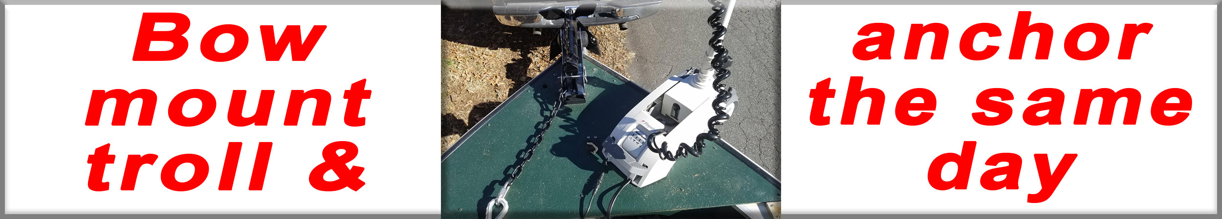 Anchoring with bow mount trolling motor