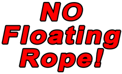 Floating rope for anchoring a boat