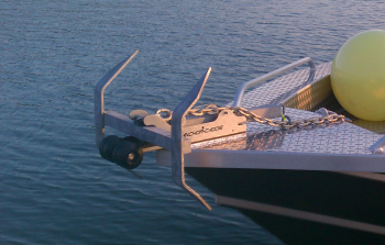 Anchor Nest on Aluminum Boat