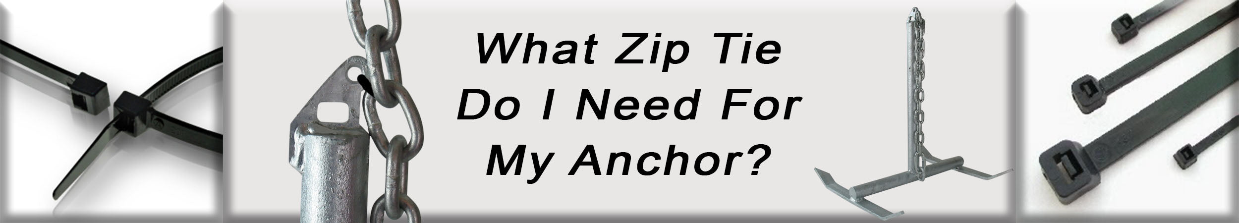Zip Tie for River Anchoring
