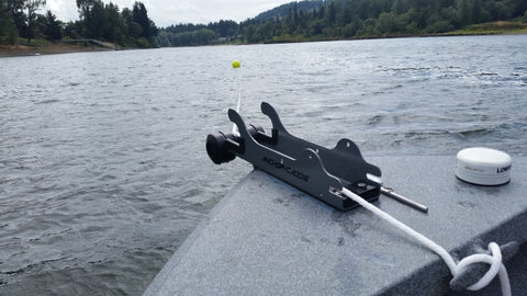 Willamette River Fishing with Anchor Caddie