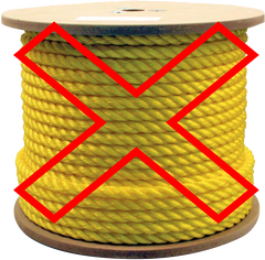 Polypropylene Rope for anchoring a boat