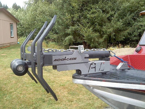 Anchor Caddie Riser installed on Boat